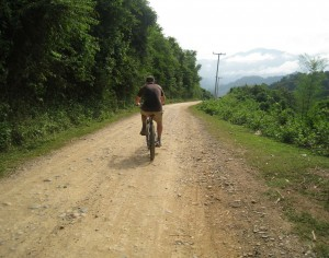 Hanoi Cycling To Vientiane